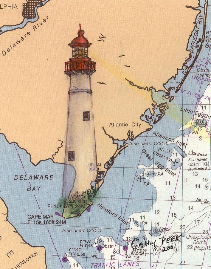 Delaware Lighthouse Paintings | Fine Art America