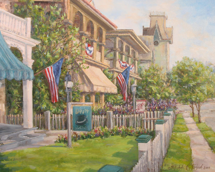 Cape May Painting - Cape May Street Scene by Michele Tokach