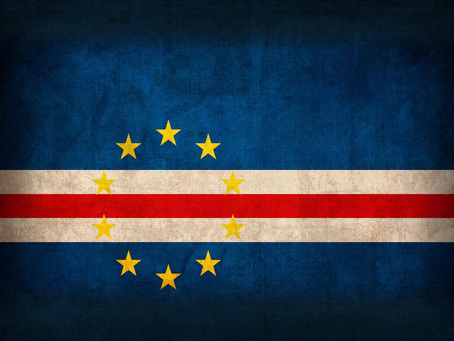 Cape Mixed Media - Cape Verde Flag Vintage Distressed Finish by Design Turnpike