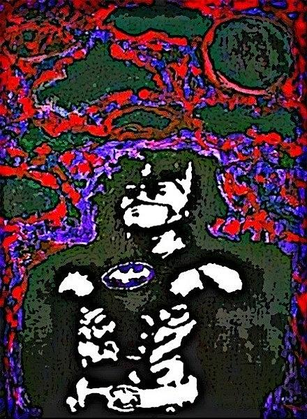 Batman Painting - Caped Crusader by Chris Thames