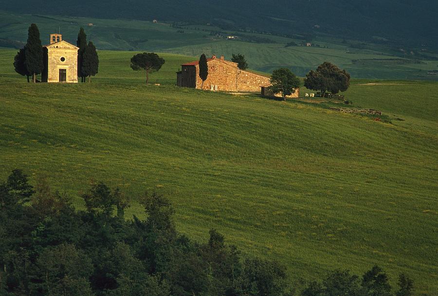 Italy Photograph - Capella Vitaleta by Andrew Soundarajan