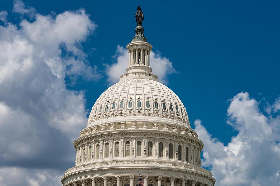 U Photograph - Capital Dome Washington D C by Steve Gadomski