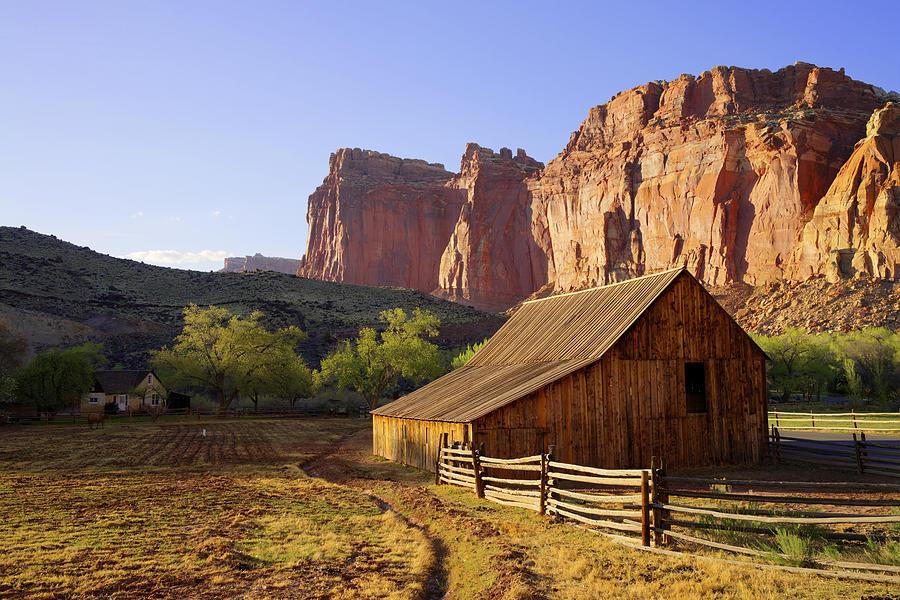 Utah Photograph - Capitol Barn by Chad Dutson