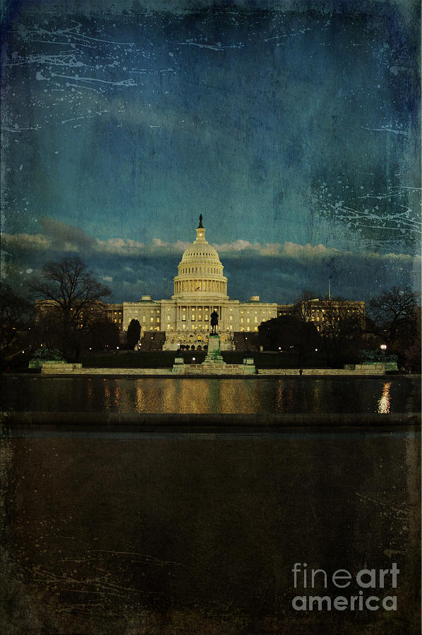 Capitol Photograph - Capitol Blues by Terry Rowe