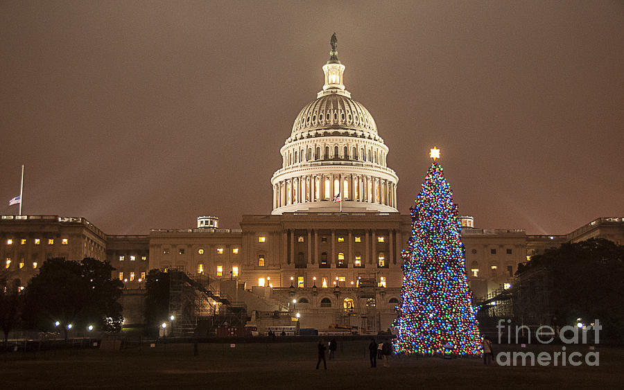 Christmas Photograph - Capitol Christmas by Terry Rowe