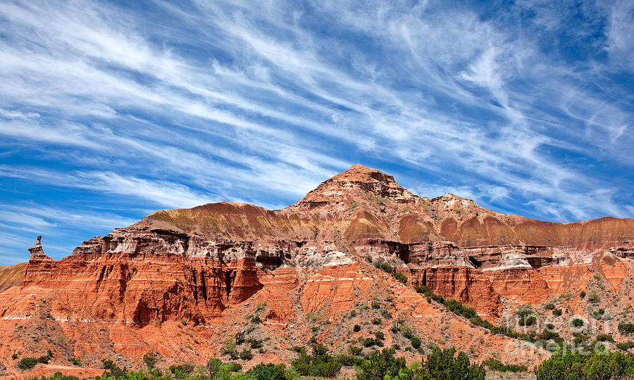 Adventure Photograph - Capitol Peak - Palo Duro Canyon by Charles Dobbs