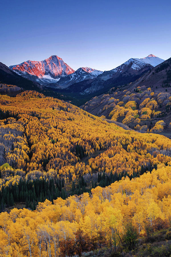 Capitol Peak With Fall Colors By Piriya Photography