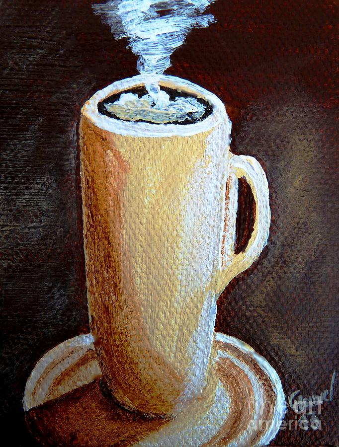Cappuccino Painting - Cappuccino 3 by Christine Huwer