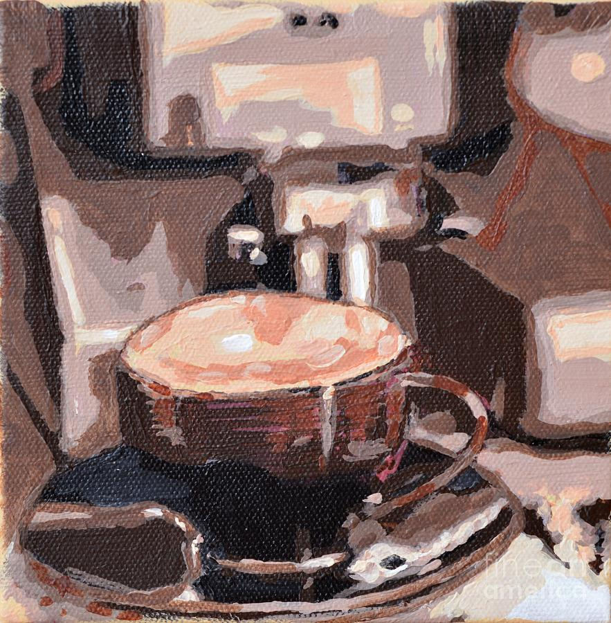 Cappuccino Painting by Laura Toth