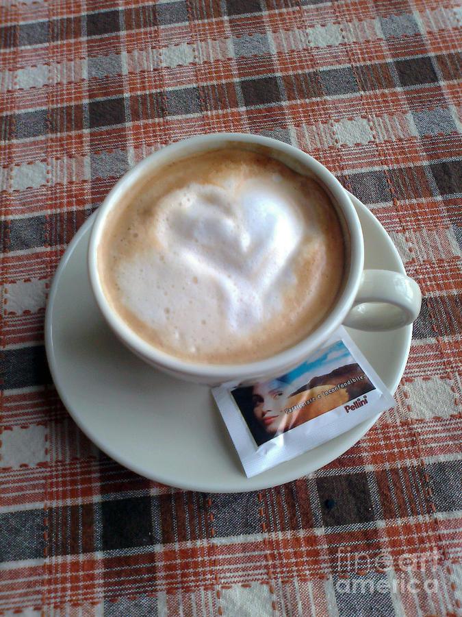 Cappuccino Photograph - Cappuccino Love by Ausra Huntington nee Paulauskaite