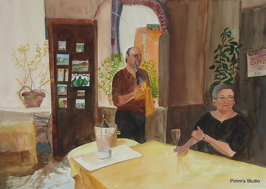 Cafe Painting - Capretz by Betty Pimm
