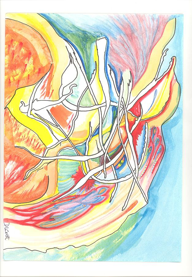 Abstract Dance Drawing - Capricious by Donna Crist