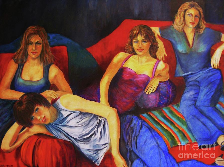 Woman Portrait Painting - Capricious Luck by Dagmar Helbig