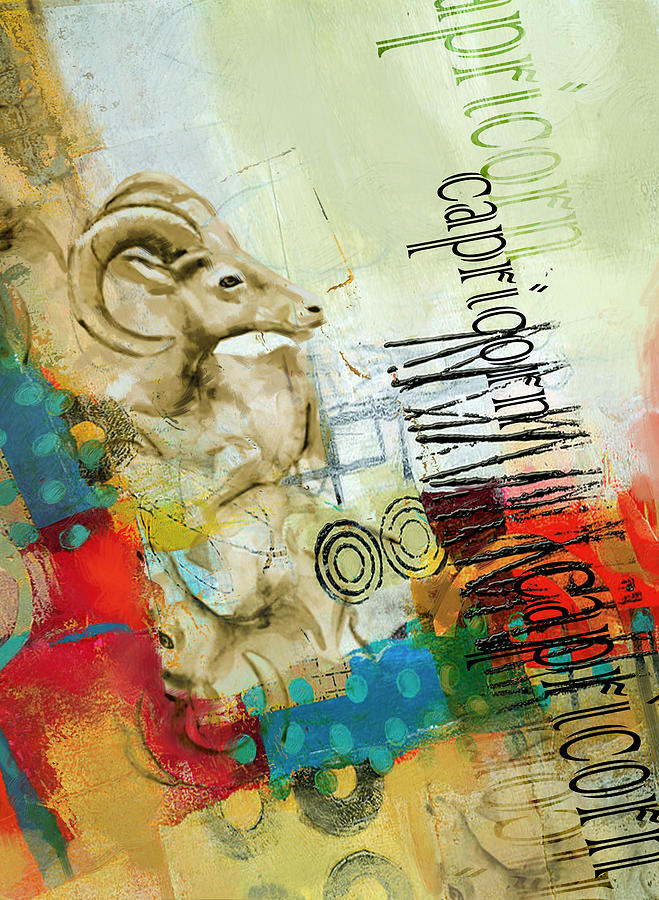 Capricorn Painting - Capricorn Star by Corporate Art Task Force