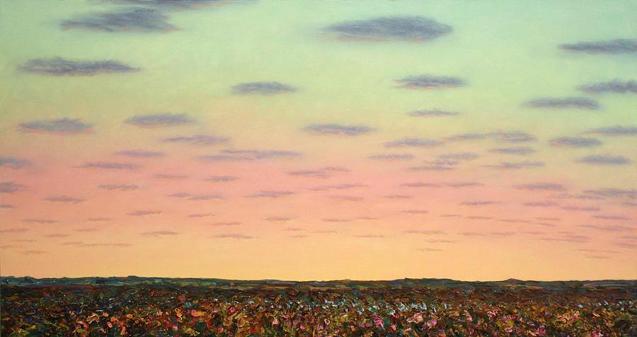 Sunrise Painting - Caprock Sunrise by James W Johnson