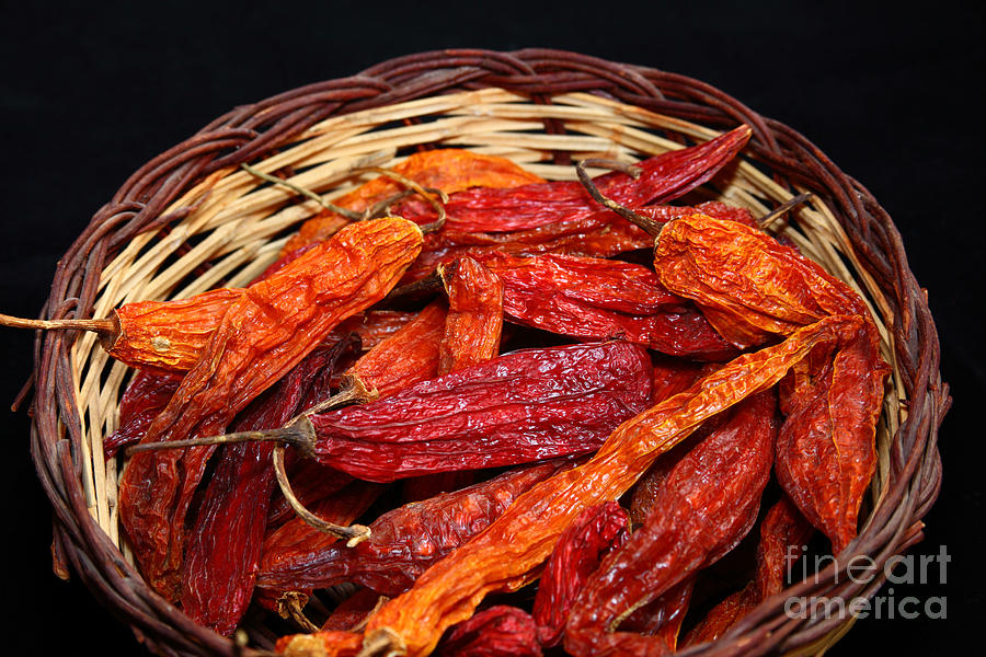 Food And Beverage Photograph - Capsicum Baccatum Chilis by James Brunker