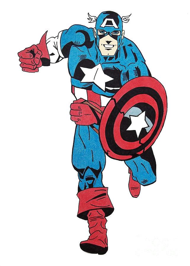 краска, капитан америка картинка раскраска цветная есть