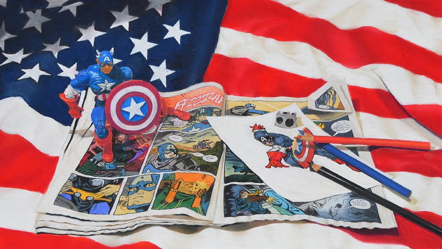 Captain America Painting - Captain America by Joanne Grant