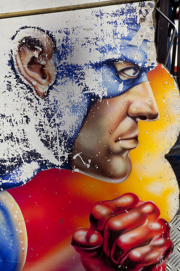 Captain America Photograph - Captain America by Mike Greenslade