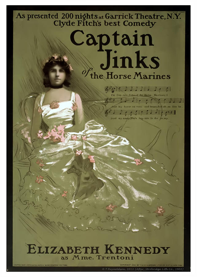 Vintage Poster Mixed Media - Captain Jinks by Terry Reynoldson