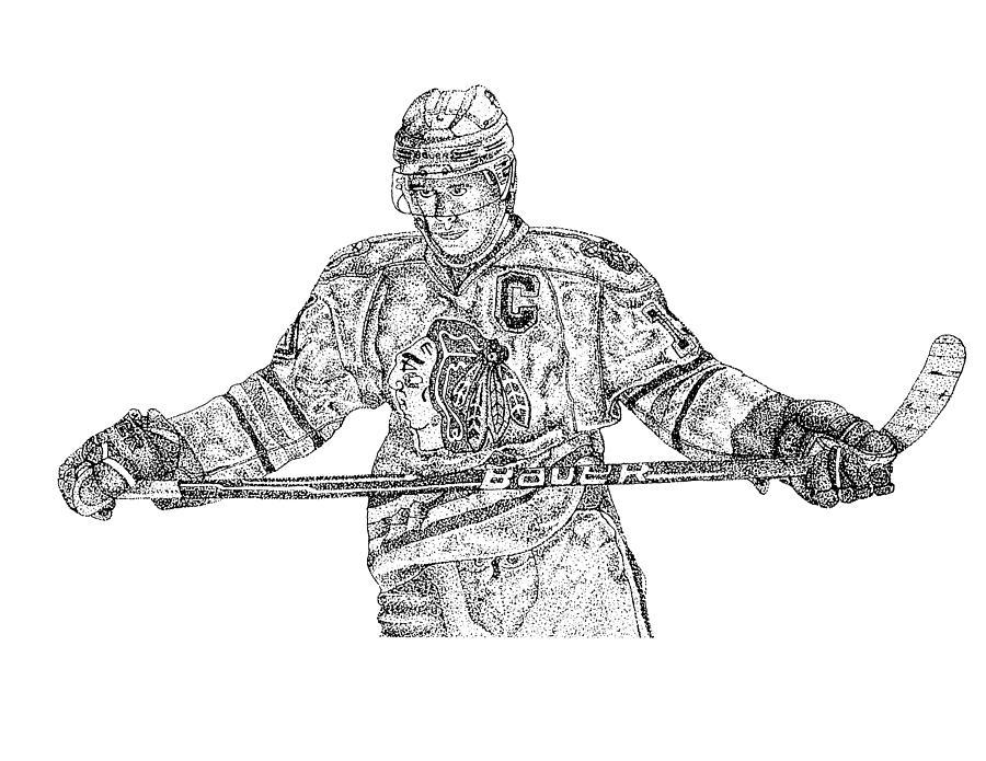 Captain Drawing by Joe Rozek