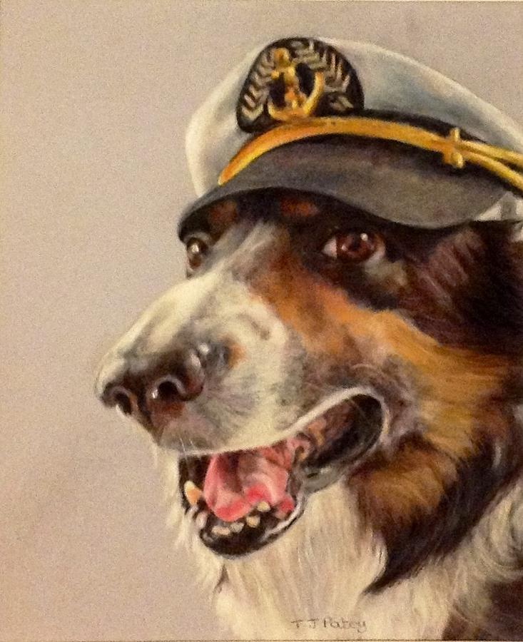 Dog Painting - Captain Merlin by Tanya Patey