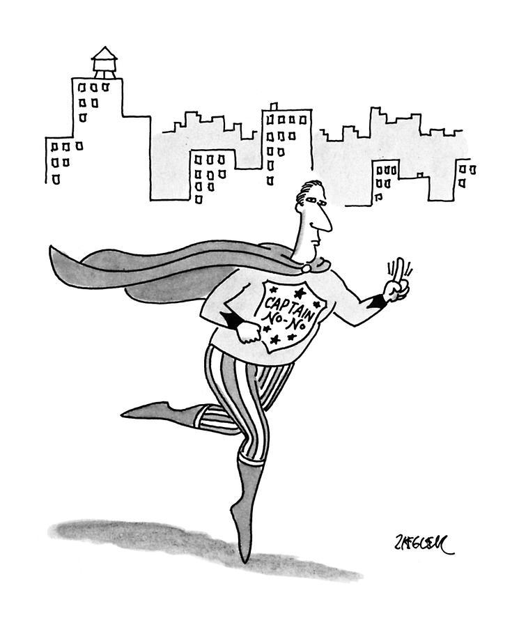 Captain No-no Drawing by Jack Ziegler