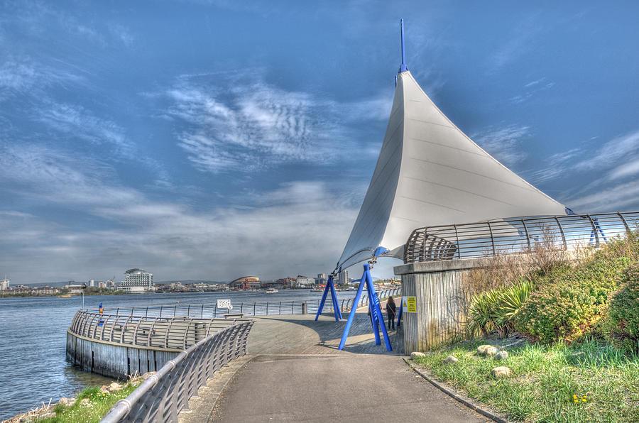 Barrage Sails Photograph - Captain Scott Exhibition Sails by Steve Purnell