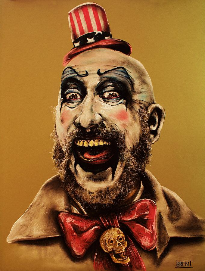 Sid Haig Drawing - Captain Spalding by Brent Andrew Doty