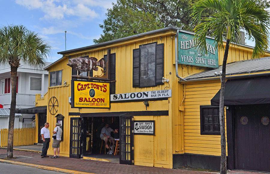 Key West Photograph - Captain Tonys Saloon by Chris Thaxter