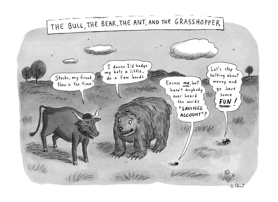 Captionless The Bull Drawing by Roz Chast