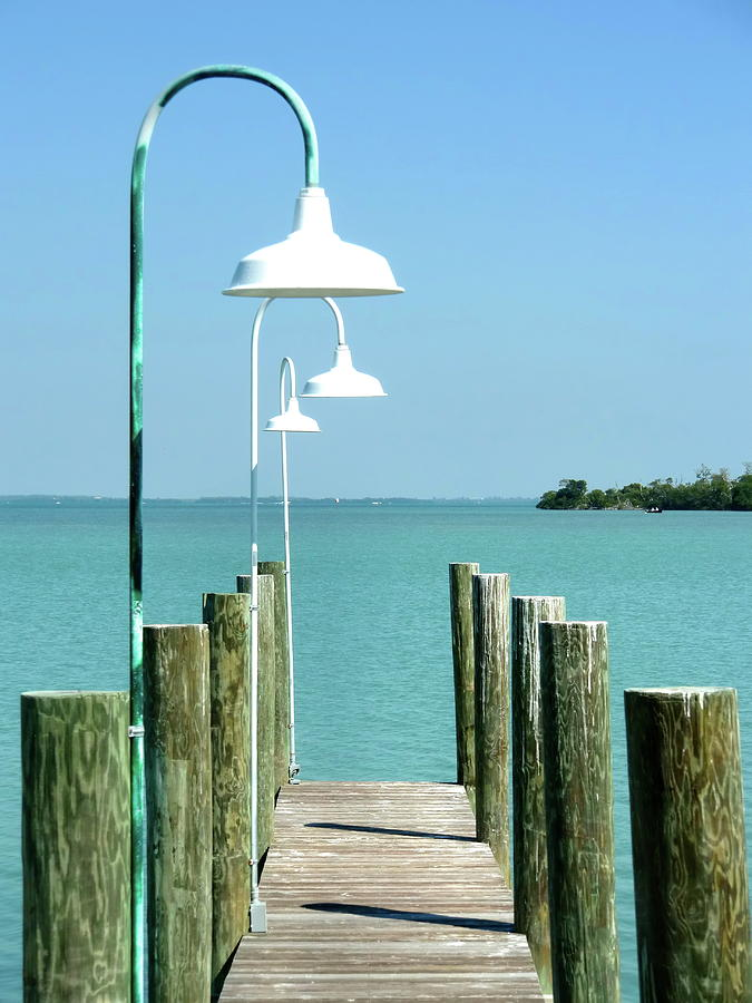 Seascape Photograph - Captiva Island Pier Two by Richard Mansfield