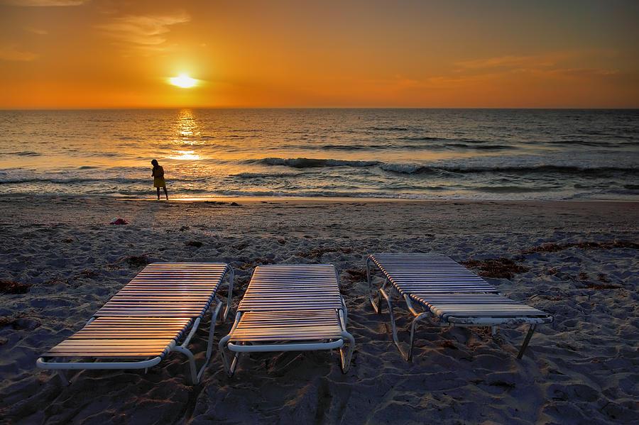 Sun Photograph - Captiva Sunset I by Steven Ainsworth