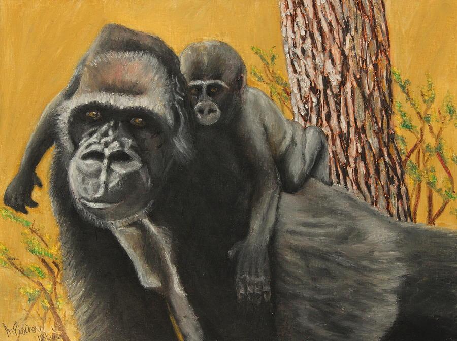 Wildlife Painting - Captured Bernigie by Jeanne Fischer