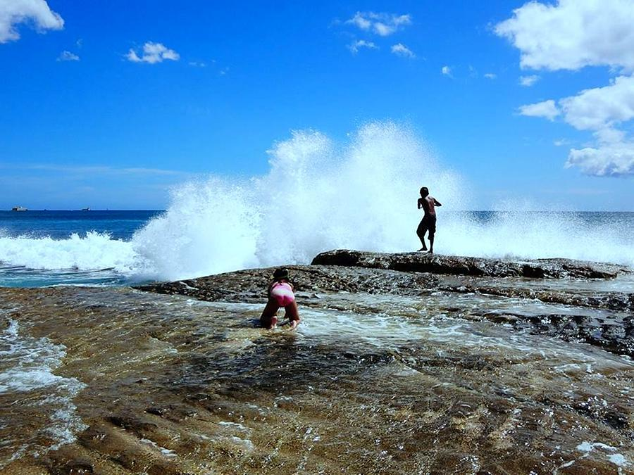 Big Waves Photograph - Captured The Moment by Imelda Sausal-Villarmino