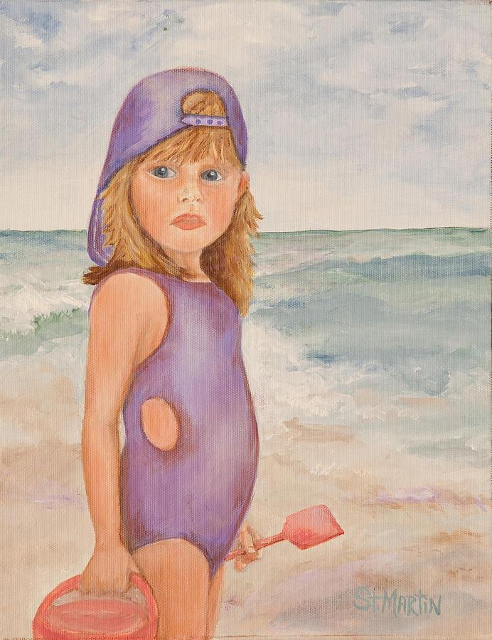 Children Painting - Capturing Attitude by Annie St Martin