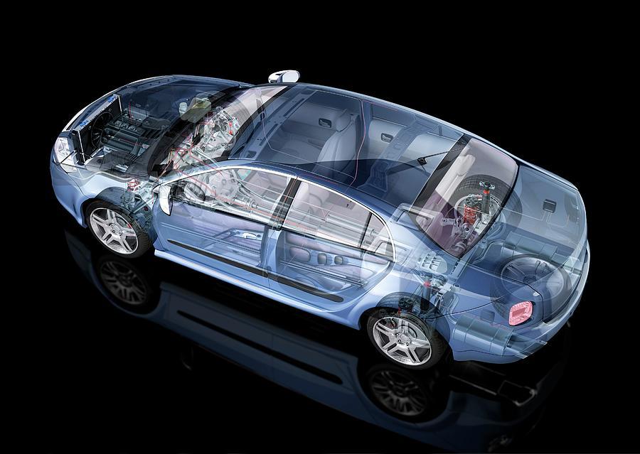 Car, Artwork Digital Art by Leonello Calvetti