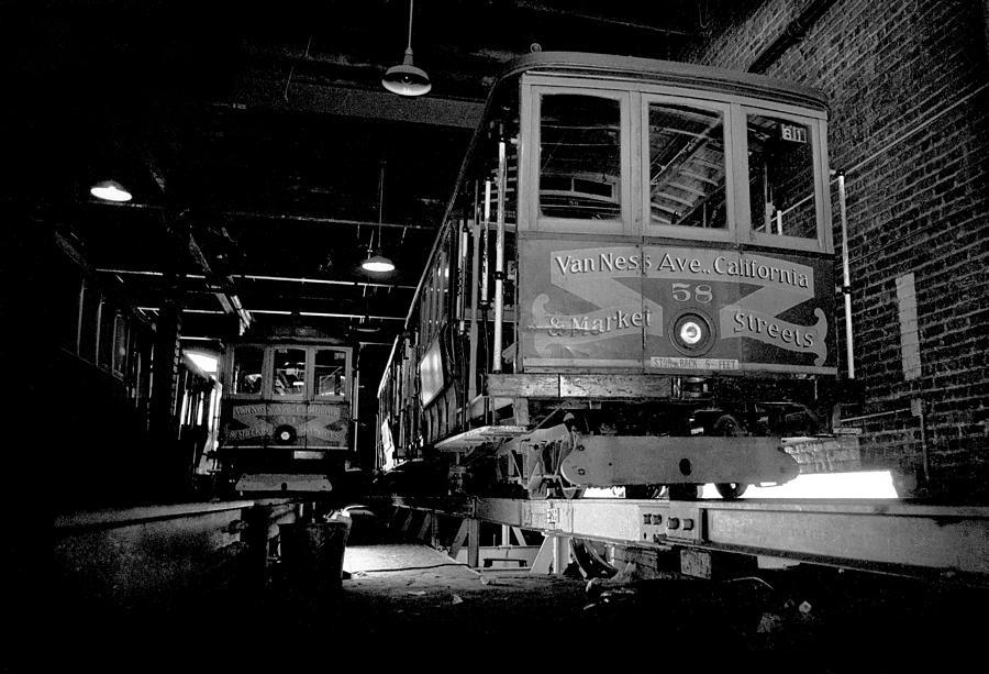 California Photograph - Car Barn by Mike Flynn