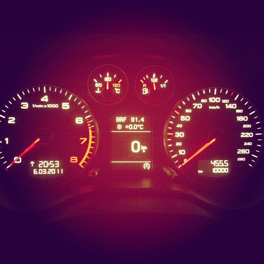 Car Cockpit With Exactly 10000km Photograph by Alvarez