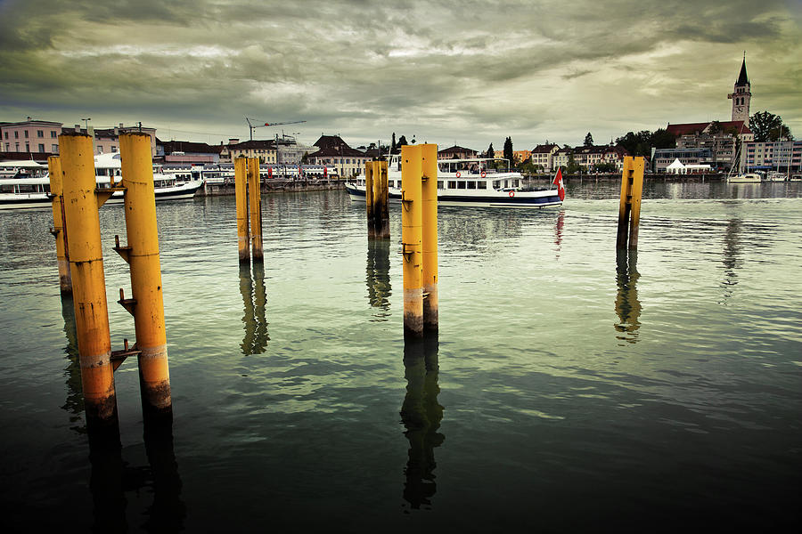 Car Ferry At The Harbor Of Romanshorn Photograph by Image By Chris Frank