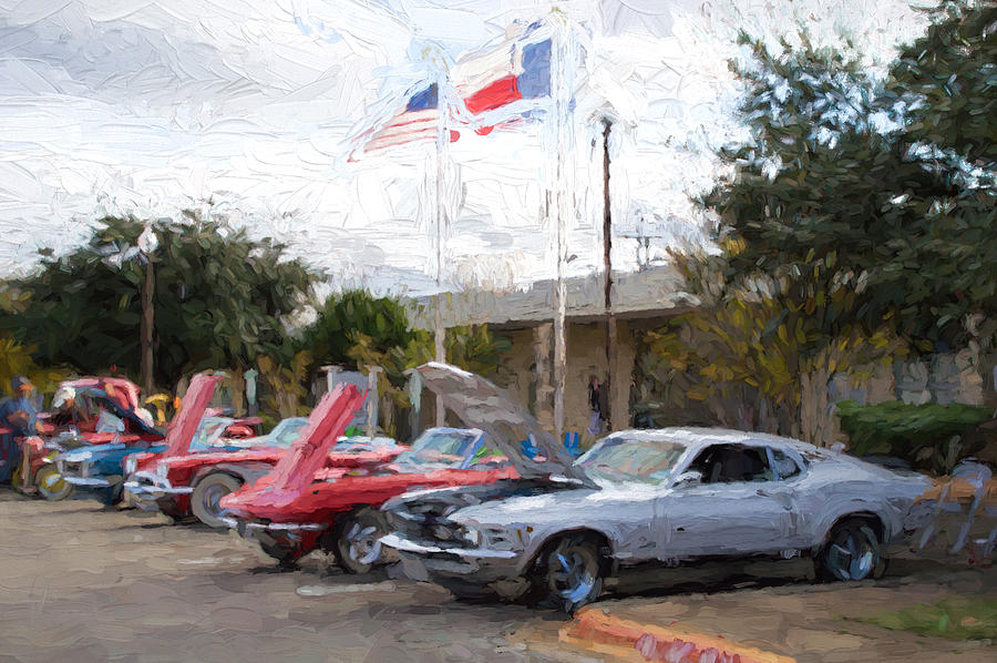 Car Show Under Two Flags Photograph By JG Thompson - Car show flags
