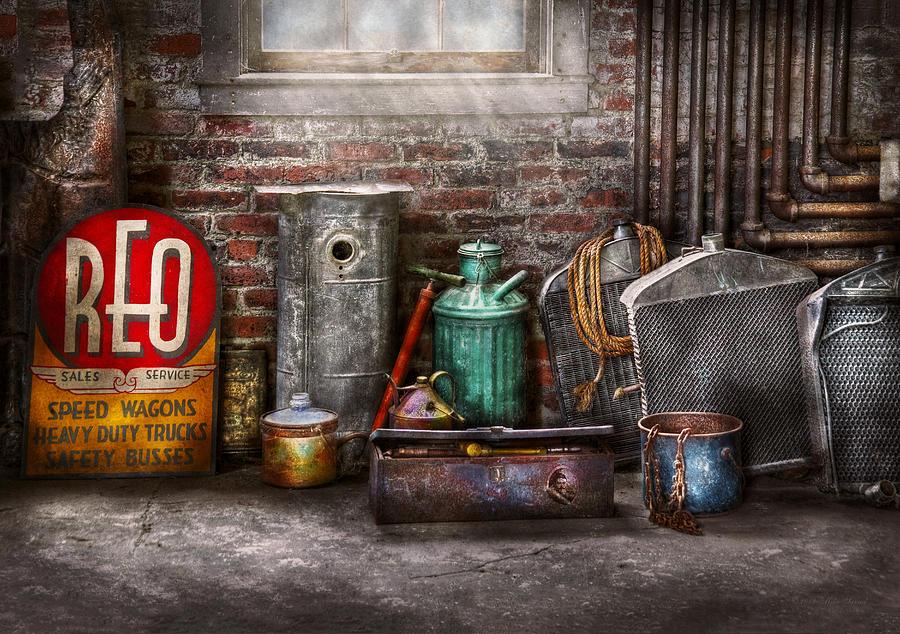 Savad Photograph - Car - Station - I Fix Cars  by Mike Savad
