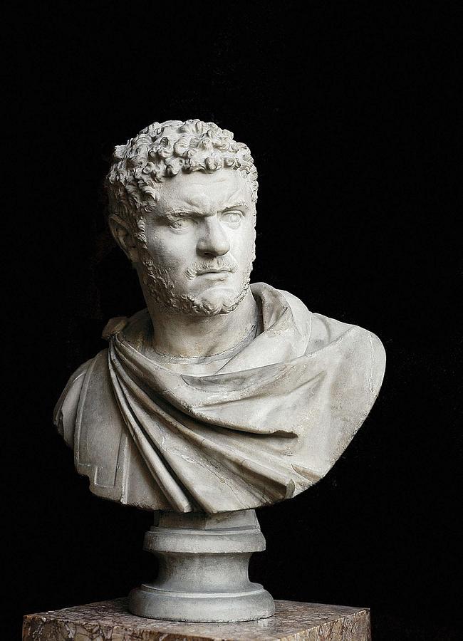 Vertical Photograph - Caracalla. 212 - 217. Bust. Sculpture by Everett