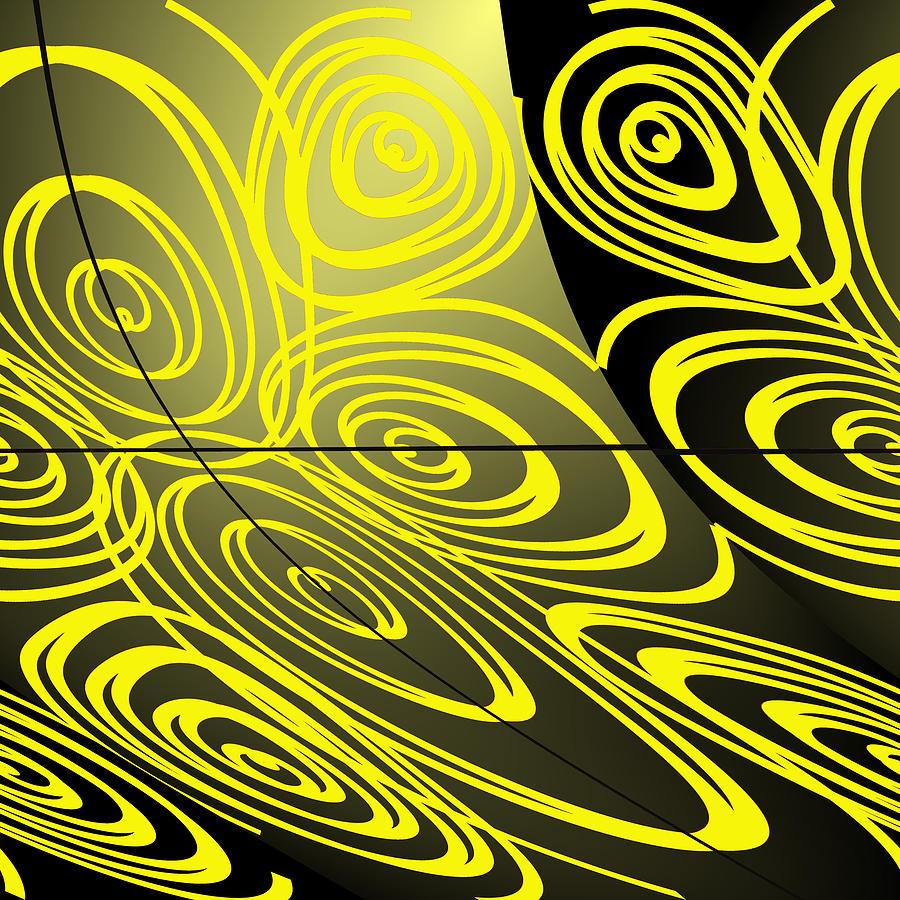 Circle Digital Art - Caracol by Mary Bedy