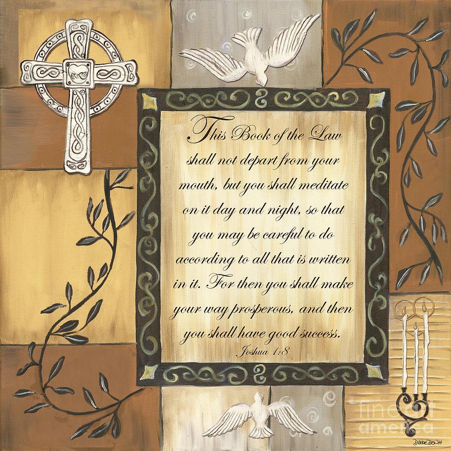 Scripture Painting - Caramel Scripture by Debbie DeWitt