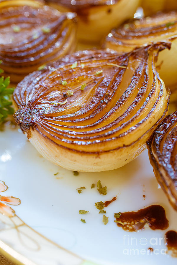 Onions Photograph - Caramelized Balsamic Onions by Edward Fielding