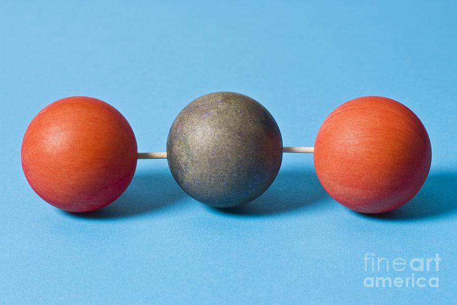 Carbon Dioxide Photograph - Carbon Dioxide Molecule by Martyn F. Chillmaid