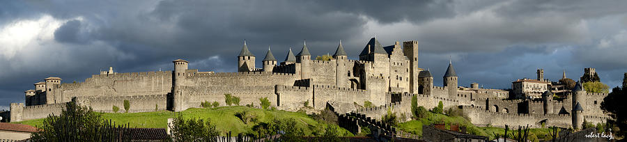 Carcassonne Photograph - Carcassonne Panorama by Robert Lacy