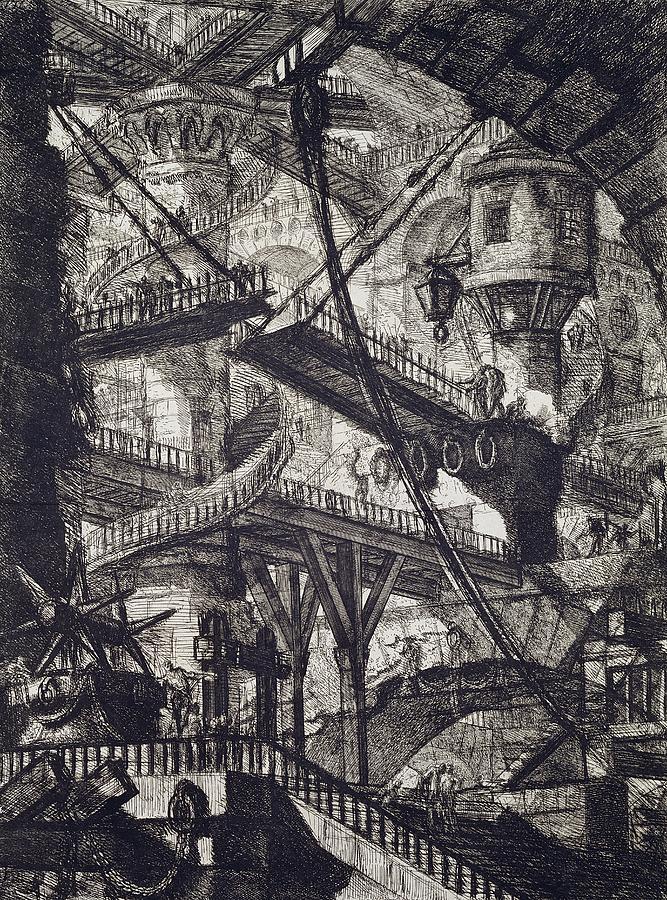 Piranesi Drawing - Carceri Vii by Giovanni Battista Piranesi