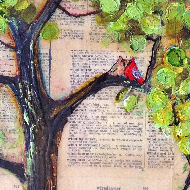Nature Photograph - Cardinal Couple Detail by Blenda Studio